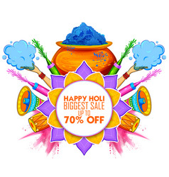 Happy holi advertisement promotional backgroundd vector