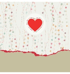 Heart frame Valentine card EPS 8 vector image vector image