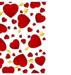 hearts and arrow invitation card vector image