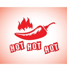 hot chillis vector image