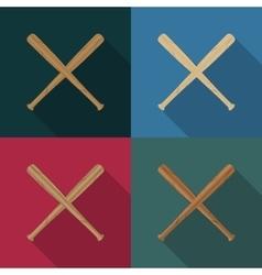 Icons baseball vector image