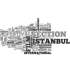 istanbul film festival in april text background vector image vector image
