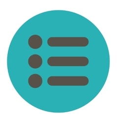 Items flat grey and cyan colors round button vector