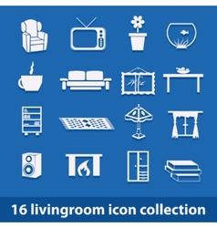Living room icons vector
