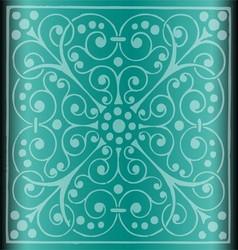 Luxury vintage floral background blue vector