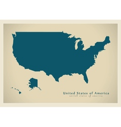 Modern map usa vector