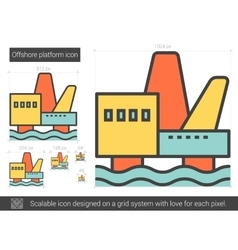 Offshore platform line icon vector
