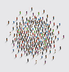 People in the shape of circle vector