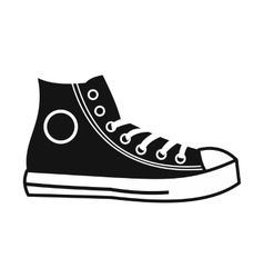 Retro sneaker simple icon vector image vector image
