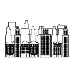 Silhouette urban cityscape and residential vector
