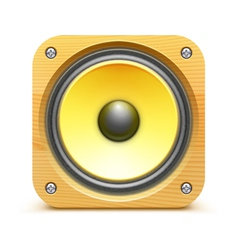 Sound loud speaker icon vector