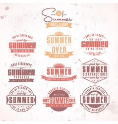 Summer sales labels vector