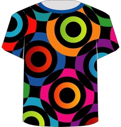 T Shirt Template- Colorful rings vector image vector image