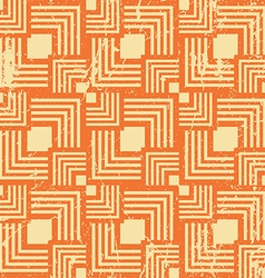 Vintage style geometric seamless background retro vector image
