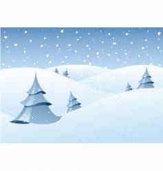 winter woodland scenery vector image vector image