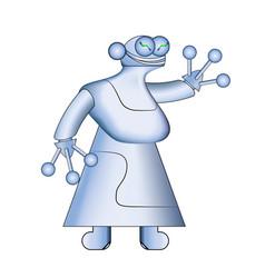 woman white robotmodern realistic robots vector image