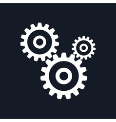 Gears isolated on black background vector