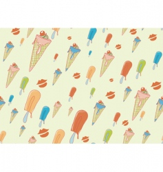 Cool hand drawn ice creams vector