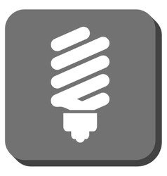 Fluorescent bulb rounded square icon vector