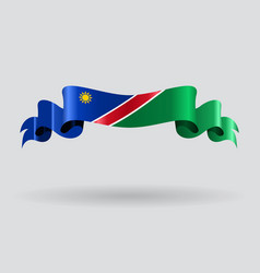 Namibian wavy flag vector