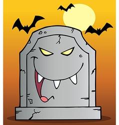 Laughing Tombstone Mascot Cartoon Character vector image