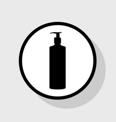gel foam or liquid soap dispenser pump plastic vector image