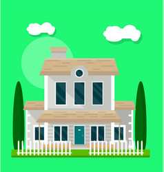 Living house exterior vector