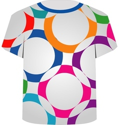 T shirt template- colorful rings vector