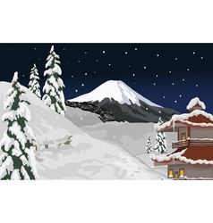 Winter evening vector