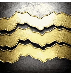 Golden and silver background vector