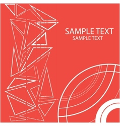 geometric image with red circles and triangles vector image