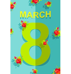 8 march international womens day 3d postcard vector