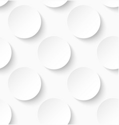 White paper seamless circle pattern background vector