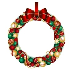 Christmas wreath decoration vector