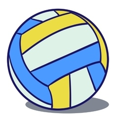 volleyball leather ball vector image