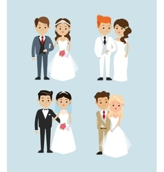 Married design wedding icon colorful vector