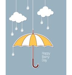Happy rainy day vector