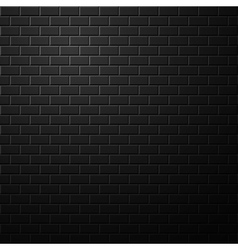 Dark brick wall background vector