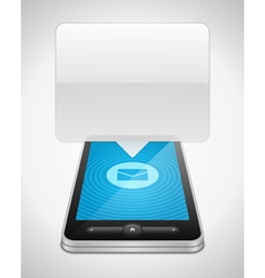 Mobile phone and incoming message icon vector