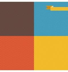 Retro Patterns Background vector image