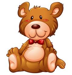 A huggable brown bear vector