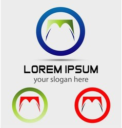Abstract round logo design template vector