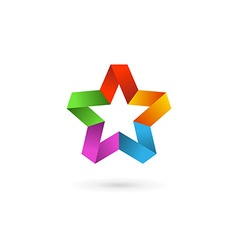 Abstract star logo icon design template elements vector image vector image
