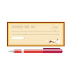 cheque cheque icon in flat vector image vector image