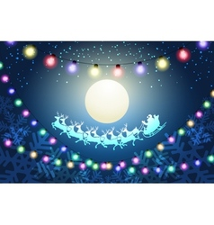 Christmas Night Concept vector image vector image