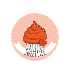 Colorful Muffins Background vector image vector image