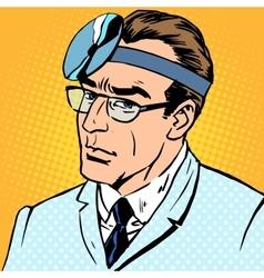 Doctor otolaryngologist vector