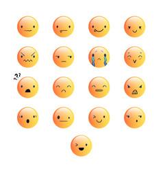 Emoticons round yellow 8 vector