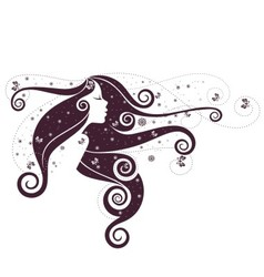 Fantasy girl 6 vector image vector image