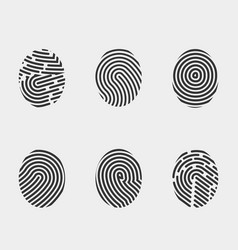 Finger print icons set vector